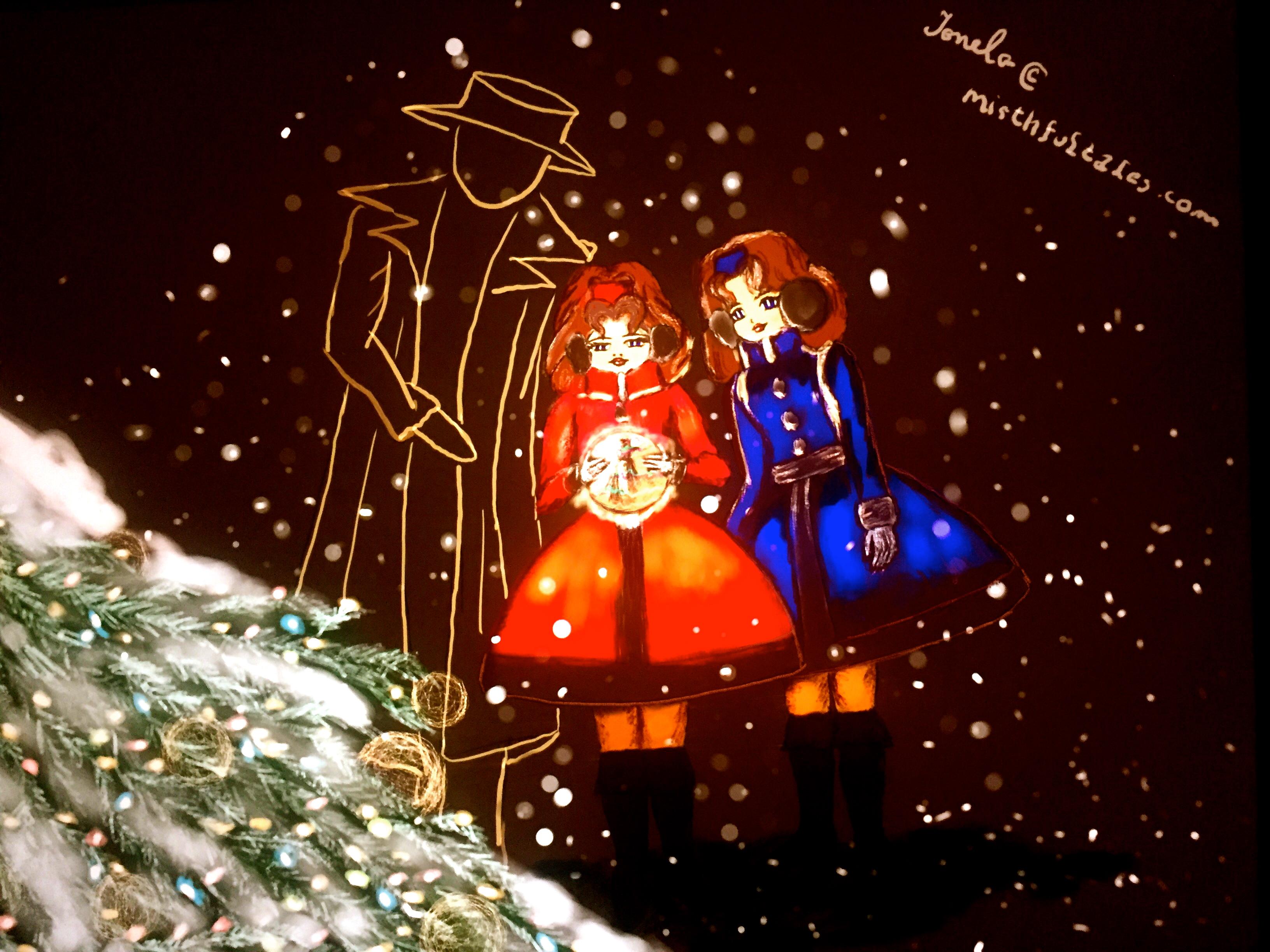 mirthfultales.com. Tina and Ella. Christmas. New Fairy Tales. Magic